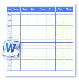 word-schedule
